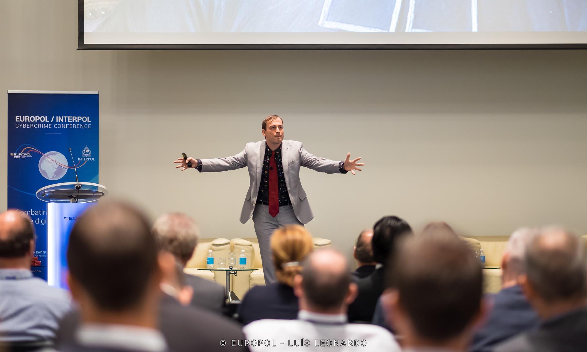 Speaking at Europol
